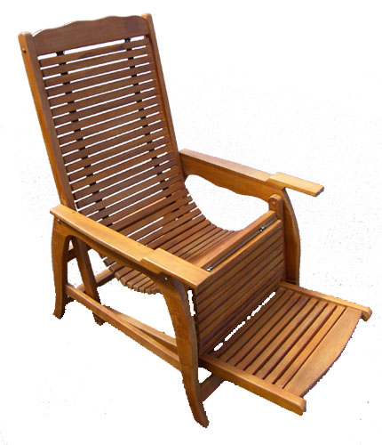 Oiled Teak Reclining Deck Chair 1001-oiled teak reclining recliner deck  sc 1 st  Bamboo u0026 Teak : wooden recliner chairs - Cheerinfomania.Com