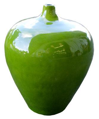 Green Glazed Vase 1023-green, glazed, vase, pot, pottery, ceramic