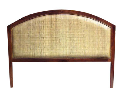 Teak and Rattan Headboard 1043-teak, rattan, wood, wooden, tropical, head, board, headboard, bed, bedroom