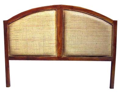 Teak and rattan Headboard 1047-teak, rattan, head, board, headboard, bedroom, wood, wooden, tropical