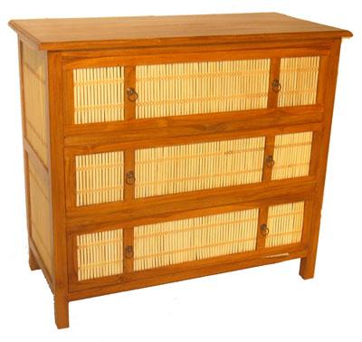 Bamboo and Teak Dresser 1061-
