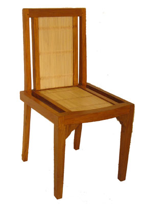 Bamboo and Teak Chair 1062-