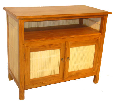 Bamboo and Teak Entertainment Center 1063-