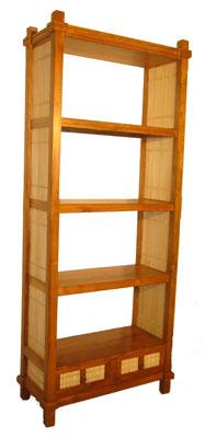 Bamboo and Teak Shelf 1066-