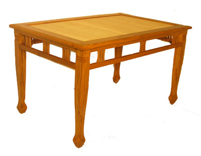Bamboo and Teak Dining Table 1071-
