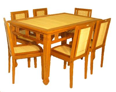 Bamboo and Teak Dining Set 1072-
