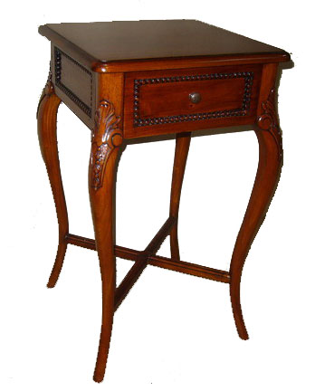 Carved Mahogany Side Table - 1098-