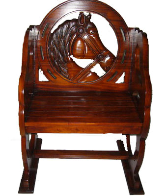 Carved Wooden Horse Chair 1118-