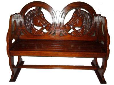 Wooden Horse Bench 1121-