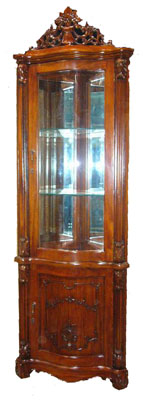 Mahogany and Glass Cabinet - 1138-