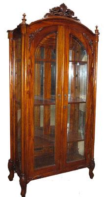 Mirrored Mahogany Cabinet - 1139-