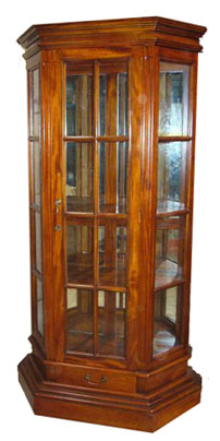 Mirrored Glass Cabinet - 1140-