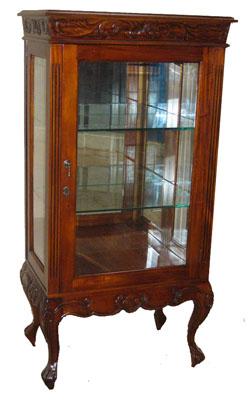 Three Shelf Mahogany Cabinet - 1144-