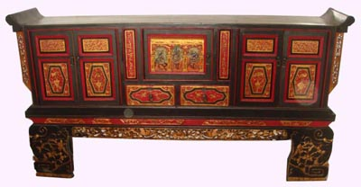 Long Chinese Cabinet - 1147-