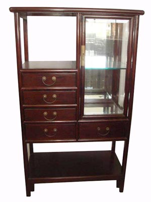 Curio Display Cabinet with Drawers - 1156-