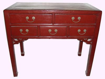 Antique Red Lacquer Table - 1161-