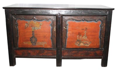 Antique Chinese Cabinet - 1172-
