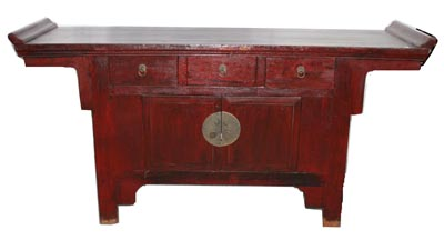 Red Chinese Cabinet - 1173-