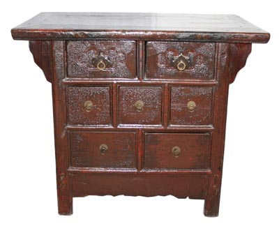 Antique Chinese Cabinet With Drawers - 1179-