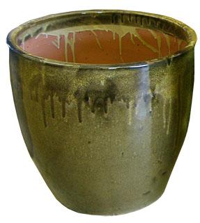 Brown Ceramic Planter-