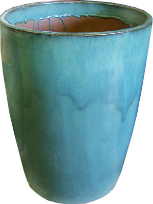 Robin's Egg Blue Tall Planter-