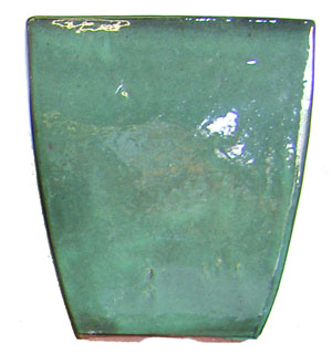 Teal Square Pot-