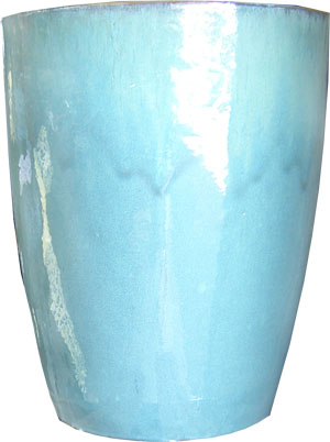 Tall Blue Planter-