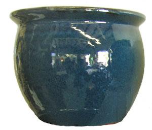 Round Blue Planter-